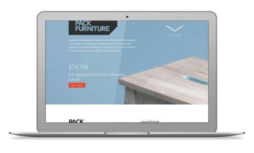 Pack Furniture Website Design and Development